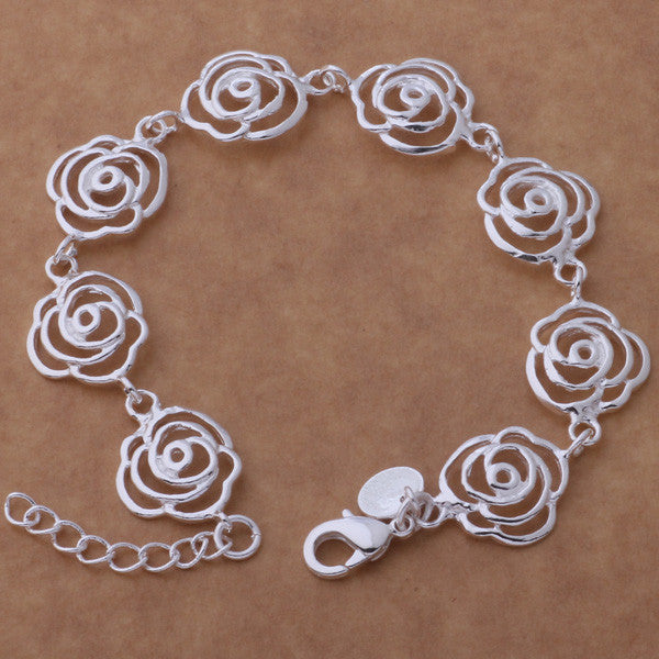 SL-AH165 Wholesale silver plating bracelet, 925 stamped silver fashion jewelry expensive garland /bhxajzea agwaiyda