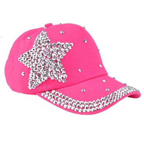 063006 Amazing 5 Colors Fashion Children Kids Baseball Cap Rhinestone Star Shaped Boy Girls Snapback Hat Summer - Blobimports.com