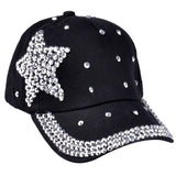 063006 Amazing 5 Colors Fashion Children Kids Baseball Cap Rhinestone Star Shaped Boy Girls Snapback Hat Summer