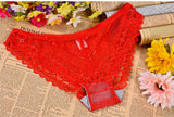 2016 Women Sexy Briefs Panties Lace Underwear Wholesale Girls Low Waist Nylon Fiber Ladies Thongs 4 colors Triangle G-string P42