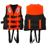 New (S-XXXL) Sizes Polyester Adult Life Jacket Universal Swimming Boating Ski Drifting Foam Vest with Whistle Prevention KSKS