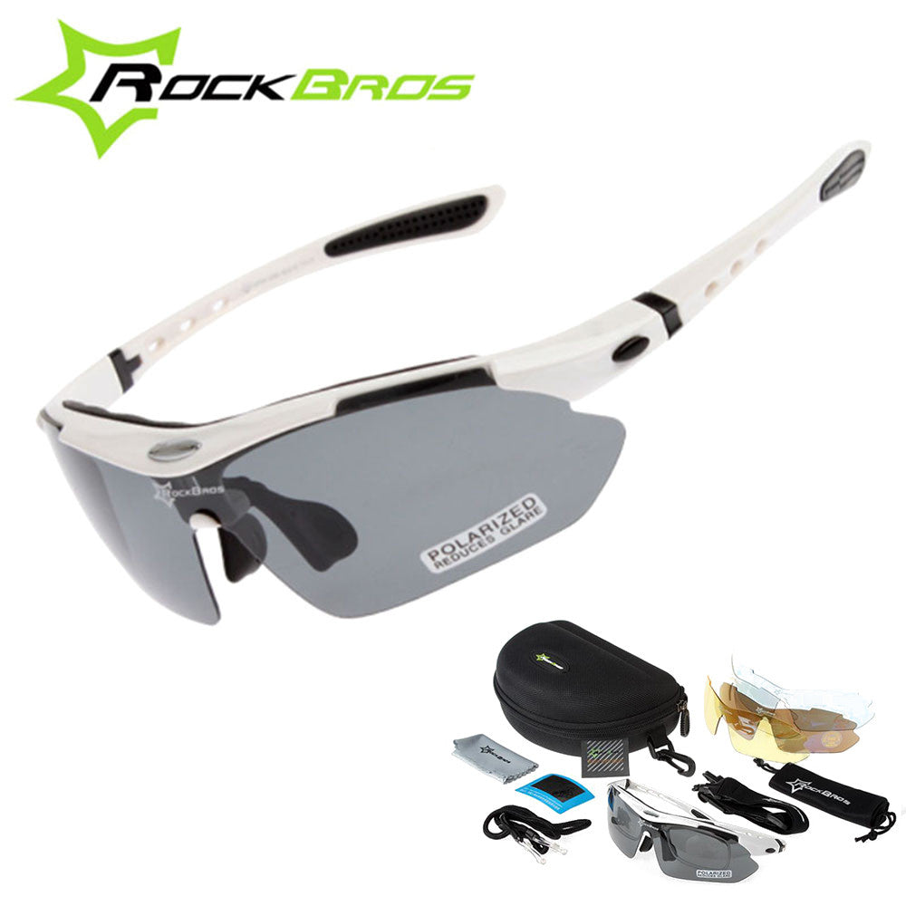Hot! RockBros Polarized Cycling Sun Glasses Outdoor Sports Bicycle ciclismo Road Bike MTB Sunglasses TR90 Goggles Eyewear 5 Lens
