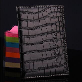 New PU Leather Passport Cover Protector Fashion Alligator Embossing Travel Passport Case Men Women ID Credit Card Holder Wallet