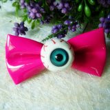 Funny Eyeball Bow Hair Clip Horror Goth Hairpin Cosplay Photo Props for Halloween Party Accessories 1 pc