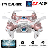 Mini WIFI Drone Cheerson CX-10W Rc Helicopter Plane Quadcopter With Camera 0.3MP 720P LED Light 4CH 6Axis 3D Roll Dron Toy Hobby