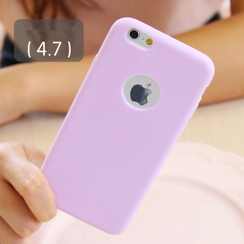 Solid Candy Color Matte Skin Case For