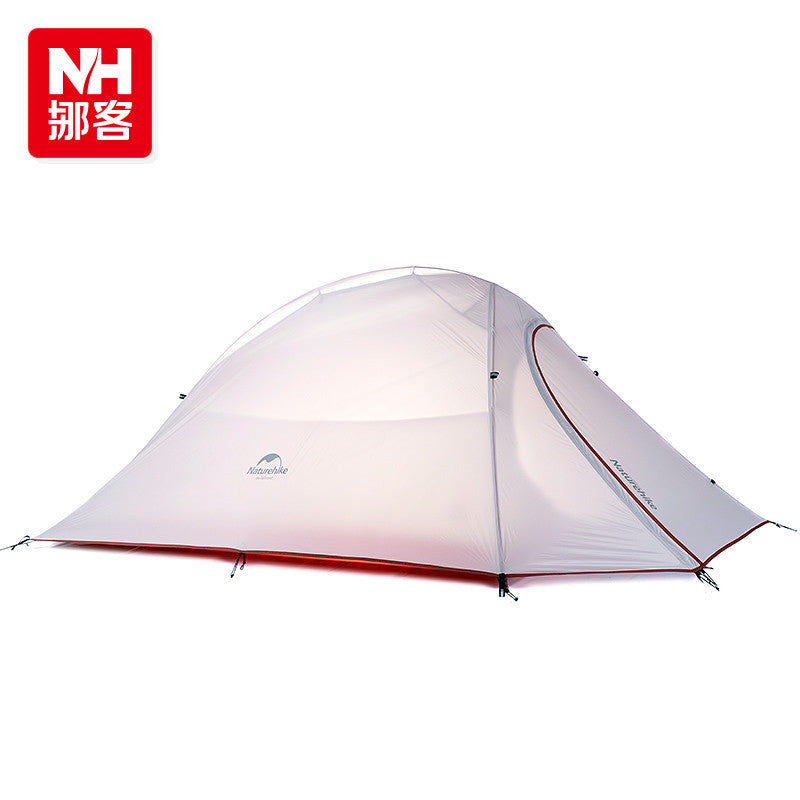 NatureHike Ultralight Waterproof Outdoor 4 Season 2 Person Tent 210T 20D Plaid Fabric Tents Double-layer Camping Tent By DH