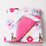Baby blankets 2016 new thicken double layer fleece infant swaddle bebe envelope stroller wrap for newborns baby bedding blanket