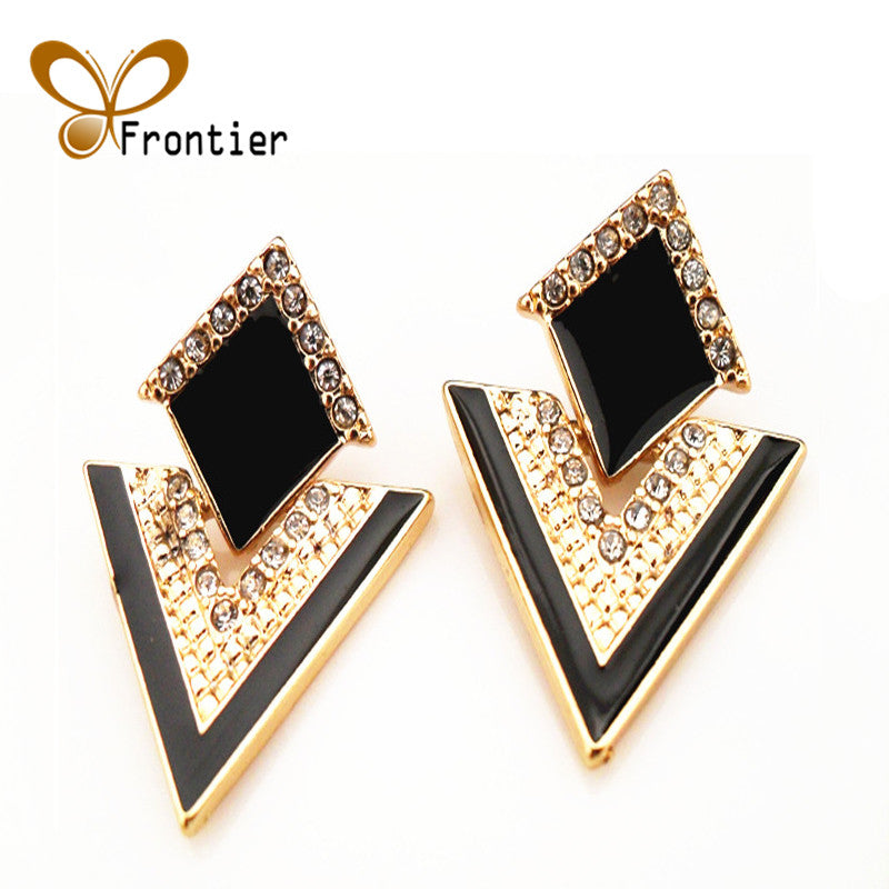 Fashion Sparkling Multi Color Stud Earrings