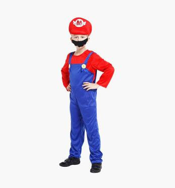 Funy Halloween Cosplay Costume Super Mario Luigi Brothers Fancy Dress Up Party Cute Costume For Adult Children Kid Free Shipping
