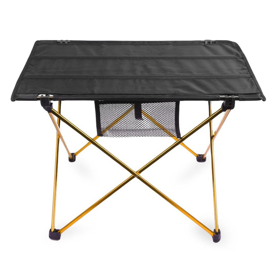 Portable Camping Table Outdoor Golden Aluminium Alloy Foldable Folding Picnic Table Ultralight Mesa Plegable For Hiking Picnic
