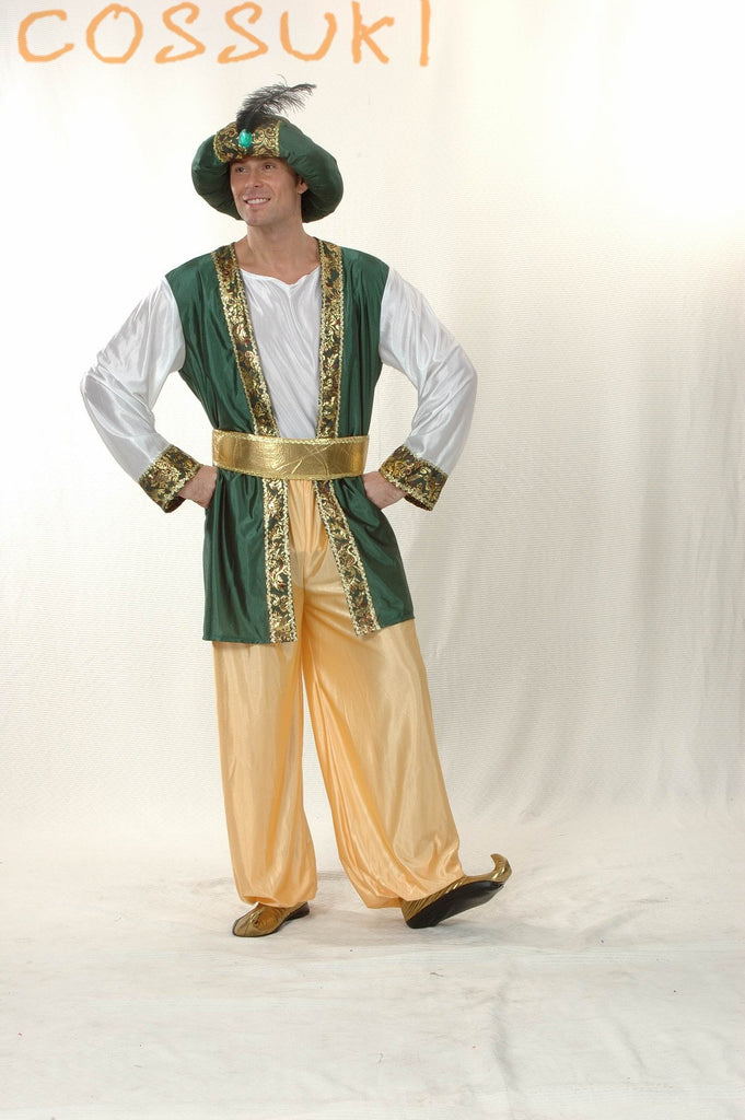 Free Shipping! Newest! Halloween Exotic Adult Men Arab Suit Cosplay Costume For Stage Performance Or Masquerade Party