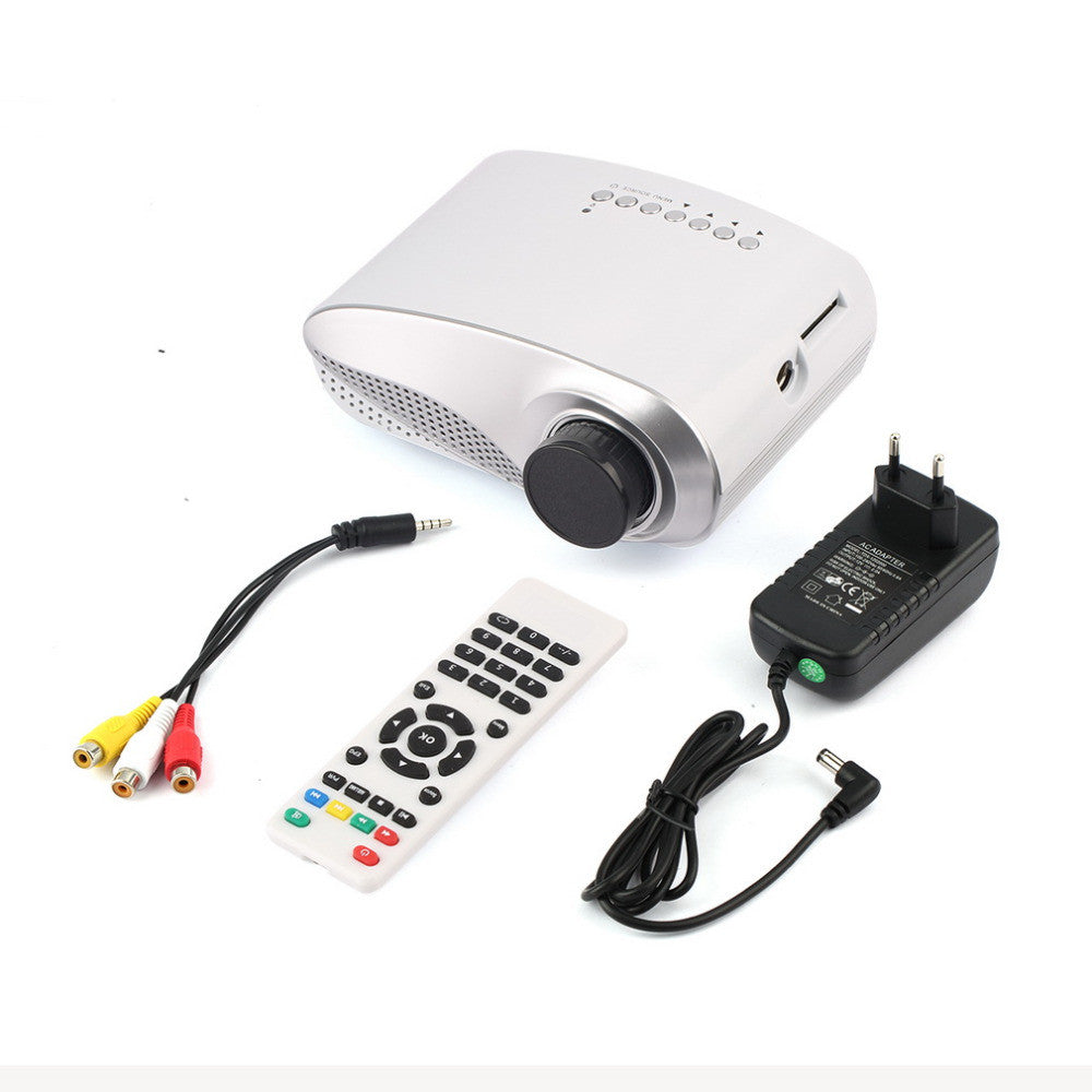 1set 1080P 3D Mini Home Theatre Portable Entertain Multimedia Projector for USB HDMI TV VGA HD LED Video LCD Hot New Arrival