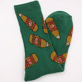 Food Bottle Beer Men&Women Sport Socks High Quailty Famous Brand Harajuku Skateboard Long Towel Sock