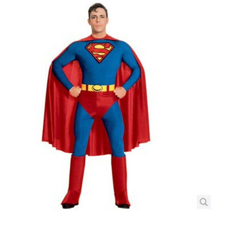 Free shipping!!Bargain!!Adult men superman suit tight party clothes stage costumes Halloween carnival clothes party costumes