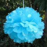 Wedding Decoration 20 25 30cm Pom Poms Tissue Paper Balls Events Frozen Party Supplies Baby Shower Birthday Kids Craft Halloween
