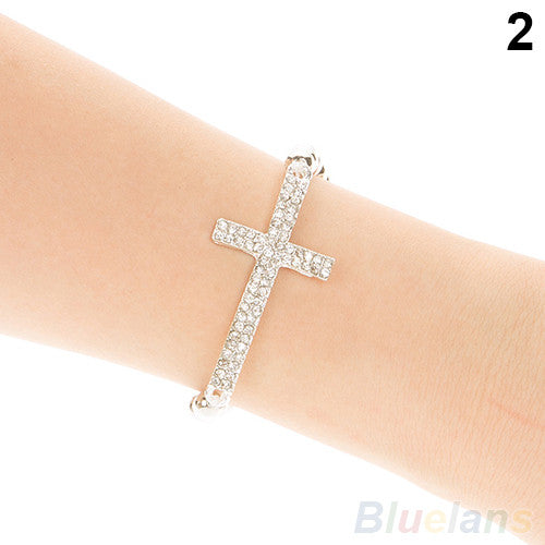 Crystal Cross Love Infinity Bracelet