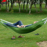 2 colors Portable Hammock Nature Hike Parachute Hammock Nylon Fabric Outdoor Camping Hammock Single Person Haning Bed Traveling