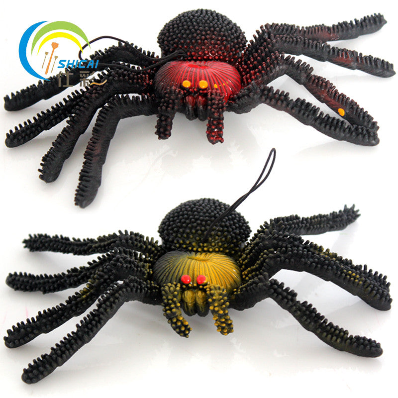 Free shipping soft toy spider scary spider super-soft stretchable simulation animal simulation model of the whole person props