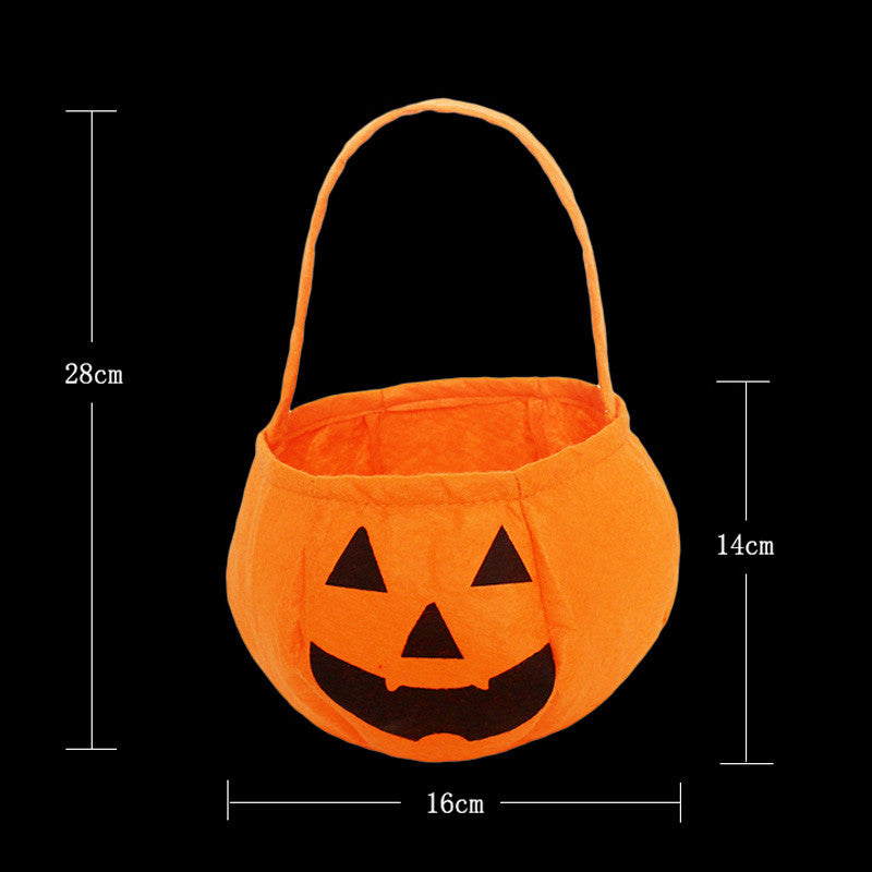 Free shipping Halloween pumpkin candy bag gift bags for children dance parties Halloween pumpkin decorations Jack Bag