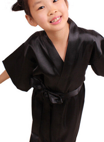 RB003 Child Robe Peacock Bathrobe For Children Robe Enfant Bathrobe Kids Bridesmaid Girl Bathrobe