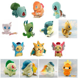 15 Style Pikachu Cyndaquil Charmander Bulbasaur Dragonite Celebi Snorlax Torchic Squirtle Kids Plush Toys Dolls Stuffed Animals