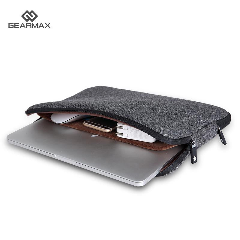 Top Selling Men Felt Waterproof Laptop Bag 11 12 13 14 15 15.6+Free Keyboard Cover for Macbook Air/Pro 13 Laptop Sleeve Case 13
