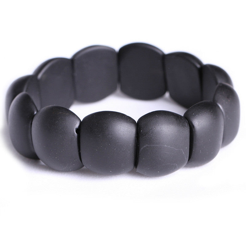 Real Black Bianshi Natural Bian Stone Bracelet For Men&Women Black Jade Bracelet or bianshi bracelet is High Quality