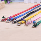 6 kinds of color's dog and cat traction rope traction rope necklace pet dog collar belt chain collar can be adjusted small bells