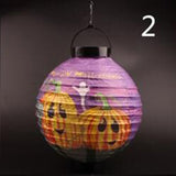 1pcs Halloween Pumpkin and Ghost Lantern Haunted Fold Lampion Halloween Decoration Party Decorations Yard Hanging Decor
