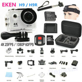 "Action Camera EKEN H9 / H9R remote Ultra HD 4K / 25fps WiFi 2.0"" 170D lens Helmet action Cam go waterproof pro Sport camera"