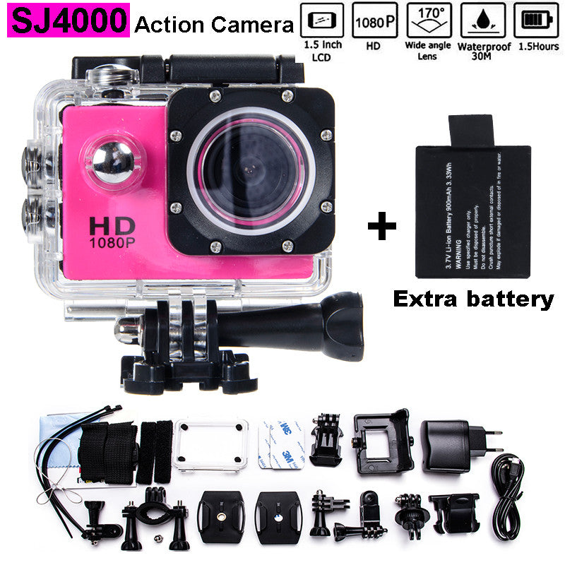 "Free shipping!!! Mini Camcorder go hero pro 3 style 1080p Full HD DVR SJ4000 style  Action Camera 1.5""LCD Screen waterproof 30M"