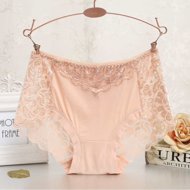 Women underwear briefs sexy women's Panties  full transparent lace seamless string plus size women underwear panty