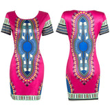 S-3XL!! Boho Autumn Dress Women Traditional African Tribal Print Dashiki Dresses Bodycon Club Party Dress CLothing Robe 10677