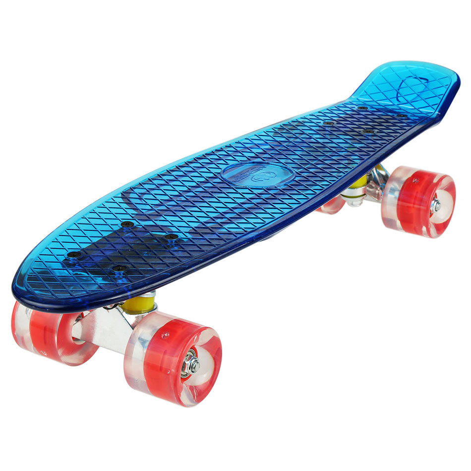 High Quality 22 inch Cruiser Crystal Clear Skateboard LED Light Up Wheels Outdoor Complete Deck Board Best Gift For Children