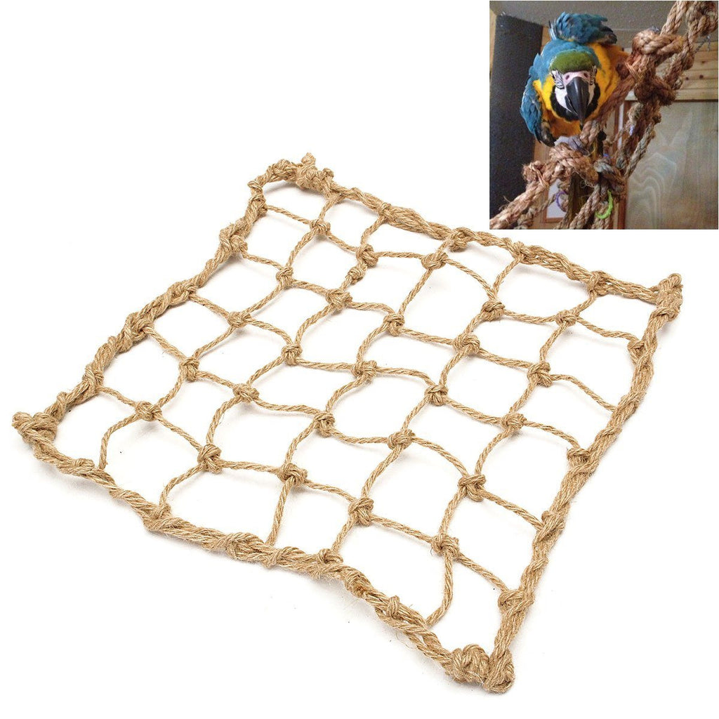 Parrot Bird Cage Toy Game Hanging Rope Climbing Net Swing Ladder Parakeet Budgie Macaw Play Gym Toys Pet Supplies