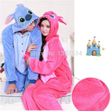 NEW Adult Pajamas Cosplay Cartoon Animal Onesie Sleepwear Christmas Halloween Free Shipping Stitch