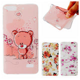 For Huawei Honor 4C Cartoon Bear Flower Design Glossy Soft IMD TPU Case Cover for Huawei Honor 4C Case Fashion Cell Phone Case