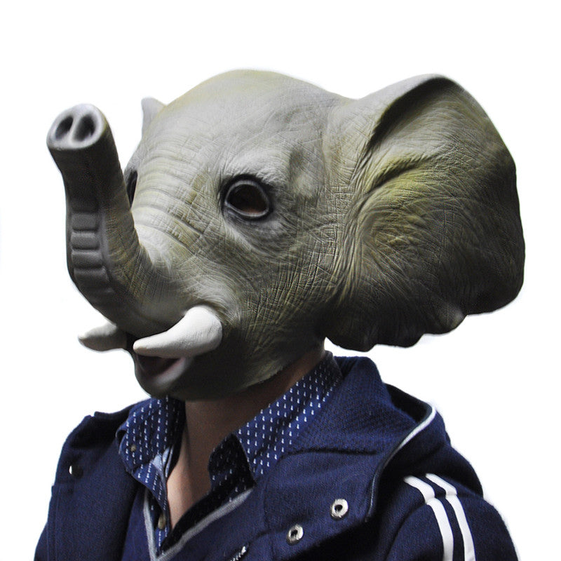 Halloween Mask Adult Animal Elephant Full Latex Party Masks Fancy Dress