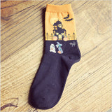 1 Pair New Halloween Design Women Cotton Socks Free Shipping Halloween Gifts - Blobimports.com