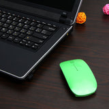 Ultra Thin USB Optical Wireless Mouse 2.4G Receiver Super Slim Mouse For Computer PC Laptop Desktop 5 Candy color