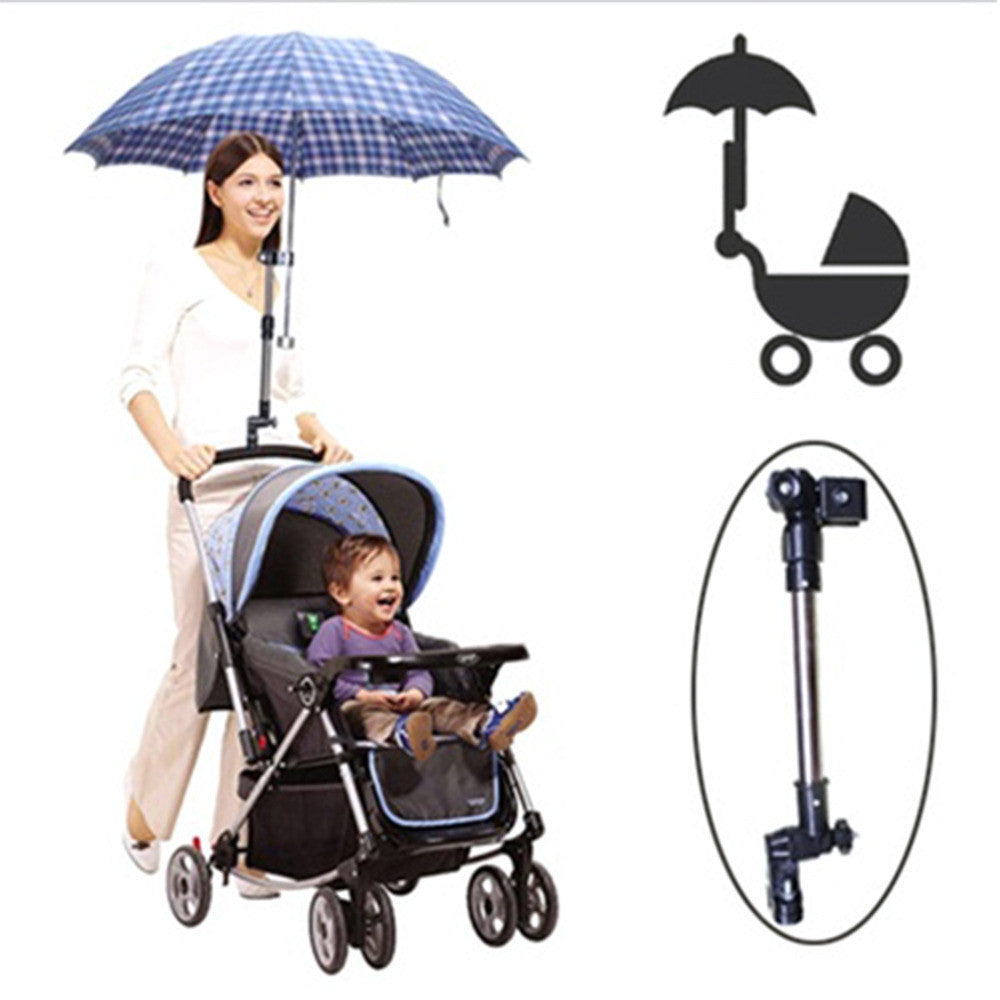 Hot Stainless steel umbrella holder Wheelchair Bicycle Pram Swivel Umbrella Connector Stroller Holder Any Angle  New
