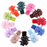 Headbands Hair Accessories Band For Toddlers Baby Dot Bow Hairband Turban Knot Vendas Para El Cabello #2366