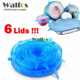 WALFOS universal Silicone saran food wrap Lid-bowl pot lid-silicon stretch lids silicone cover pan Kitchen Vacuum Lid Sealer