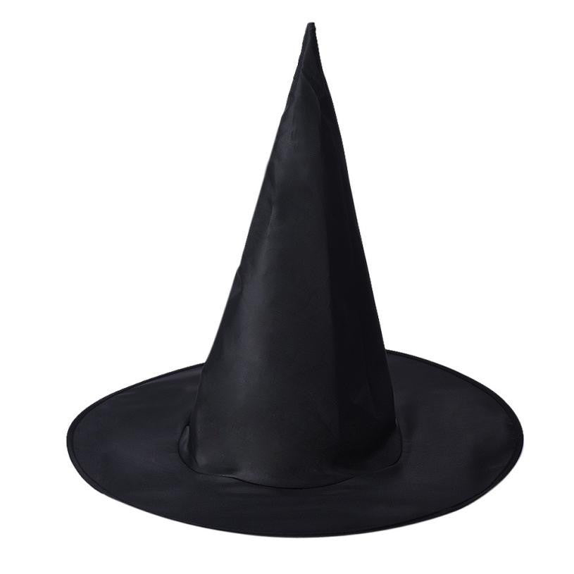 Newly Design 1pc Women Black Witch Hat Cosplay Costume For Halloween Aug26