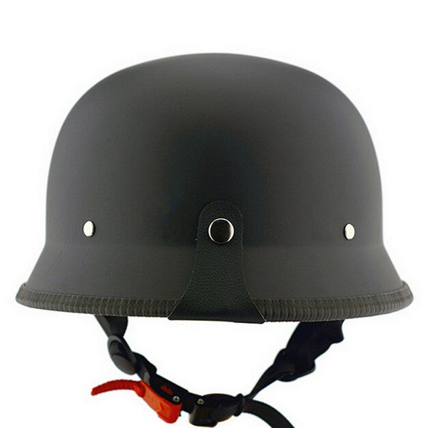 Unisex DOT Retro Motorcycle Helmets Matte Black German Half Face Helmet Chopper Cruiser Biker M/L/XL