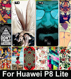 Cartoon Soft TPU Case For Huawei Ascend P8 Lite P8 Mini ALE_L21 ale l21 5.0 inch Housing Colorful CapamFor Huawei Ascend P8 Lite