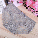 HLGO Women's  low waist sexy lace underwear lace Breathable  briefs