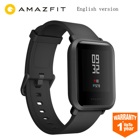 English Version Huami Amazfit Bip Smart Watch GPS Gloness Smartwatch Smart-watch Watchs 45 Days Standby for Xiaomi Phone MI5 IOS