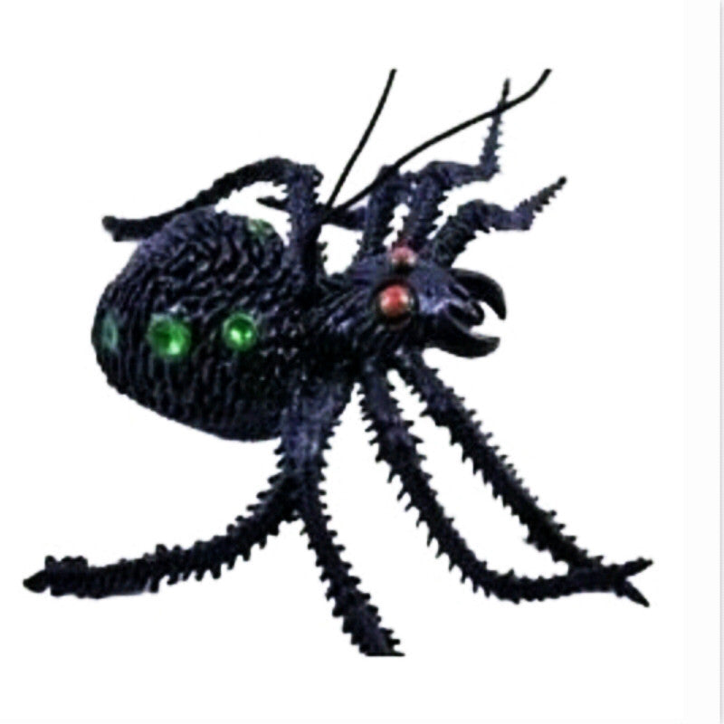 toys Simulation Spider Toy Soft rubber Imitate Spider Funny tricky brains Prank horror Toys for Halloween Decoration Party Props
